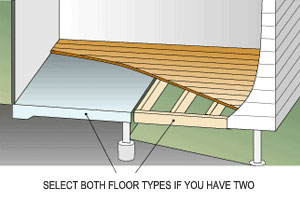Be sure to nominate all of the floor types in your development. eg: For a combination slab-on-ground and suspended floor, select both slab-on-ground and the appropriate suspended floor option.
